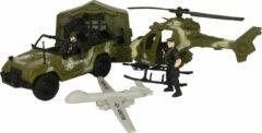 Jollity Works JollyFigures - Leger - Leger Speelset - Soldaat - Combat Force - Tent - Jeep - Drone - Jeep - Soldaten - Large