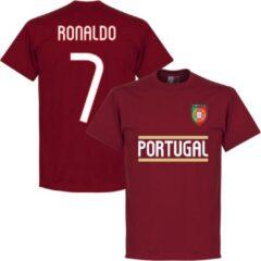 Retake Portugal Ronaldo 7 Team T-Shirt - Rood - Kinderen - S