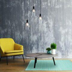 Lichtblauwe Relaxdays vloerkleed met franjes - katoen - handgeweven kleed - tapijt - karpet 70x140 cm light Blue