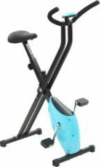 VidaXL Hometrainer X-bike bandweerstand blauw