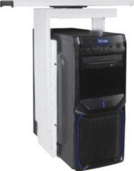 AMSTYLE ® PC-Halter 360° drehbar Universal Computerhalterung 46 - 68 cm weiß Tischhalterung mit Auszugsystem Untertisch Befestigung höhenverstellbar