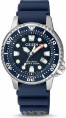 Citizen EP6051-14L - Horloge - Rubber - Blauw - Ø 33.5 mm