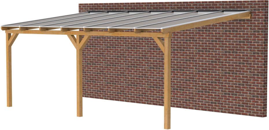 Afbeelding van Woodvision Douglasvision | Veranda 700x400 | Opaal dakplaat