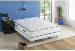 Witte DEKO DREAM Set matras 180 x 200 + 2 bedbodems 2 x 90 x 200 - Veren - 24 cm - 5 zones - Evenwichtig - ONTSPANNING