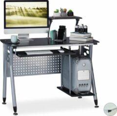 Relaxdays computertafel - bureau voor PC - computerbureau - kinderbureau - toetsenbordlade zwart