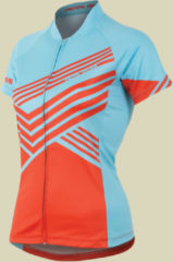 Pearl Izumi W LTD MTB Jersey Fahrradtrikot Damen Größe L zig zag mandarin red