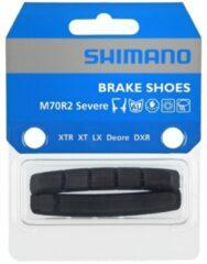 Shimano - Bremsbelag V-Brake M70R2 Cartridge - Schijfremblokjes maat 2 Paar, zwart