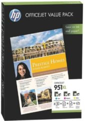 Hewlett Packard Value Pack HP Druckpatronen Nr. 951XL color (CR712AE) inkl. 75 Blatt Papier