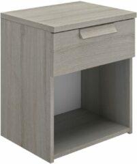 Gamillo Furniture Nachtkastje Cyrus 50 cm hoog in grijs eiken