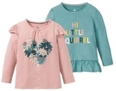 Lupilu 2 meisjes shirts 98/104, Lichtroze/mint