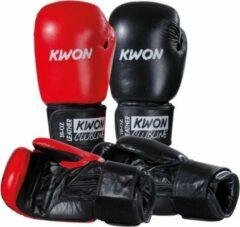 Zwarte KWON Bokshandschoenen Pointer 10 oz