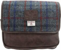 Marineblauwe The British Bags Company Finsbay Harris Tweed PU Hang Toilettas