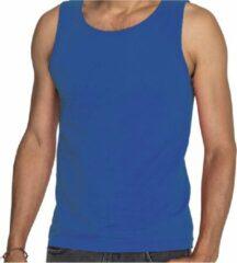 Blauwe tanktop / hemdje voor heren - Fruit of The Loom - katoen - mouwloos t-shirt / tanktops / singlet 2XL