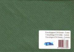 Top-Hobby 100 Enveloppen - C6 11,4 x 16,2 cm – Donker Groen met Golf Relief