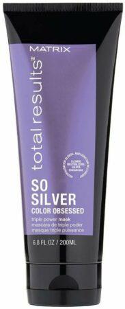 Afbeelding van Totale resultaten Dus Zilverkleurige Geobsedeerde Masker voor Blond en Grijs haar 200ml
