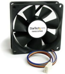 Zwarte StarTech.com 80x25mm Ventilator Computerbehuizing met PWM Pulse Width Modulation