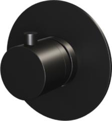 Inbouwthermostaat Brauer Black Rond Mat Zwart (Inclusief Inbouwdeel)