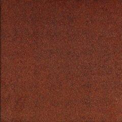 2 stuks! Rubbertegel rood 50x50x4.5 cm Gardenlux