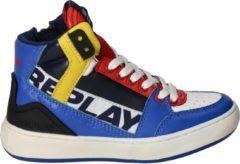 Replay Jongens Hoge sneakers Campos - Blauw - Maat 36