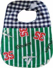 Blauwe Toetie & Zo Handgemaakte Slabber 35 - Groen - Slabbetje - Slab - Spuugdoek - Baby - Kraamkado