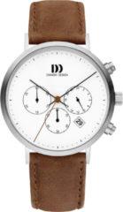 Zilveren Danish Design watches edelstalen herenhorloge Berlin Brown IQ29Q1245