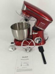 Keukenmachine Eisenbach 6,5 liter Rood ultra stille moter.