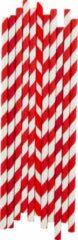 My Little Day - Papieren rietjes - Rode strepen - 25 stuks - 19cm