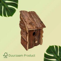 Donkerbruine Vogelhuisje opening van 32 mm Duurzaam Vogel Huisje Sparrenhout| GerichteKeuze