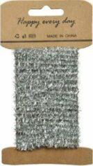 Decoris Zilver lametta lint ijzerdraad op rol 200 cm - Hobby ijzerdraad zilver