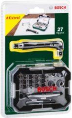Bosch Schraubendreher-Bit-Set inklusive Ratsche, 27-teilig VPE: 12
