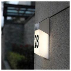 Lutec Solstel ST9079 Solar huisnummerlamp met bewegingsmelder 1.3 W Neutraal wit RVS