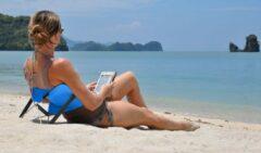 Antraciet-grijze Y-ply | Rugsteuntje | Strandstoel | Opvouwbaar | Beach-chair | Beach-lounger |Antraciet