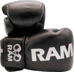 RAM Pro 1 - Leder - Kickbokshandschoenen - Zwart/zilver - 10oz
