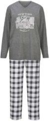Schlafanzug Gregory anthrazit/grau