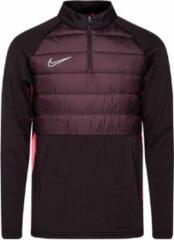 Bordeauxrode Nike Dry Academy Drill Top - Burgundy Ash/Racer Roze/Reflective Zilver - Boys Medium