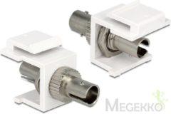 Witte Keystone optical fiber ST Simpex module