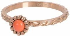 Koraalrode IXXXI jewelry Vulring inspired Coral rosegoudkleurig 2mm - maat 17