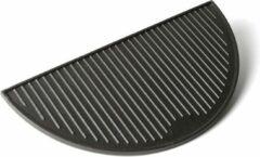 Zwarte Keij Kamado Gietijzeren grillplaat, half rond - Large (46,5 cm)