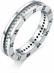 Mijn bedels Sterling zilveren ring Romeinse cijfers