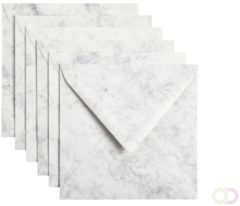 Papicolor Envelop Vierkant Formaat 140 X 140 Mm Kleur Grijswit