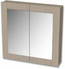 Tiger Frames spiegelkast 80x80cm wit eiken