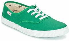 Groene Lage Sneakers Victoria INGLESA LONA