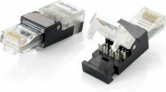 Equip 121165 kabel-connector RJ-45 Zwart, Transparant