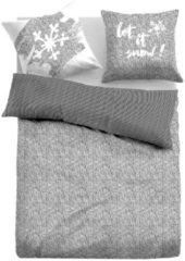Tom Tailor Casual winterliche Wendebettwäsche, unisex, grey, Größe: 135/200