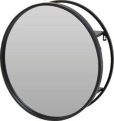 Orange85 Spiegel - Rond - Metaal - Zwart - 50 cm - Industrieel - Grote spiegel met open achterkant - Wandspiegel - Hal - Badkamer - Slaapkamer - Modern