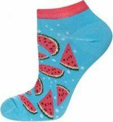 Merkloos / Sans marque Sneaker sokken watermeloen maat 35-40