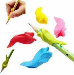 Ardran & Tookar Potlood grip - Dolfijn Geel+Groen - 2 stuks