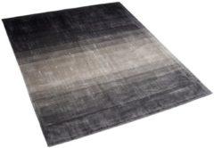 Beliani ERCIS Vloerkleed Zwart Kunstzijde 140 x 200 cm
