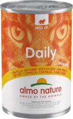Almo Nature Blik Adult Cat Daily Menu 400 g - Kattenvoer - Kip