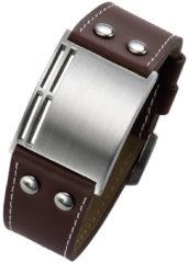 Zilveren Leo Marco heren armband Bruin LM903